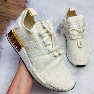 Adidas Shoes Originals Nmd R1 Off White Gold Metallic Poshmark